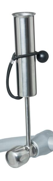 Regenschirmhalter Edelstahl mit Verzahnung
