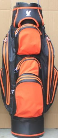 Water Protect Cartbag Organizer Schwarz/ Orange