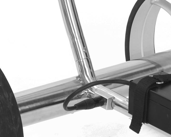 Elektro Golftrolley Taurus DHC poliert