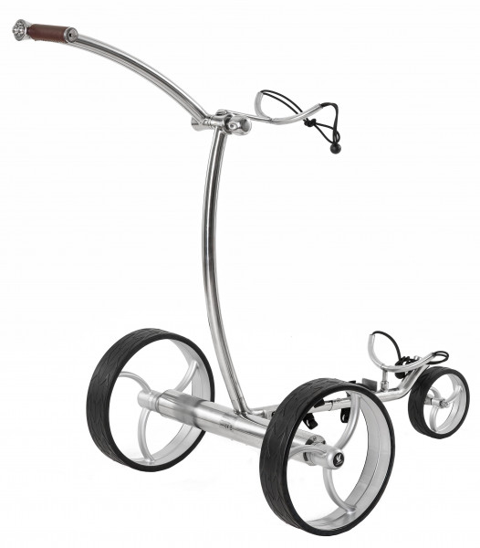 Elektro Golftrolley Taurus Down Hill Control poliert